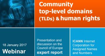 """Webinar: """"Dominios de nivel superior (TLD) y derechos humanos"""""""