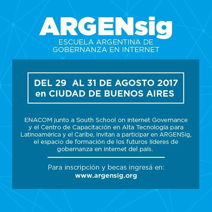 ARGENSIG Se realizará del 29 al 31 de Agosto en la Ciudad de Buenos Aires.